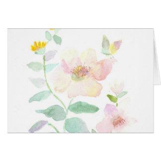 Cartes Fleur d'aquarelle