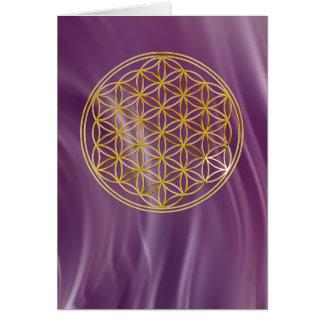 Cartes Fleur de la vie | petit violet waves