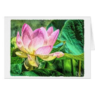 Cartes Fleur de Lotus/art floral d'aquarelle