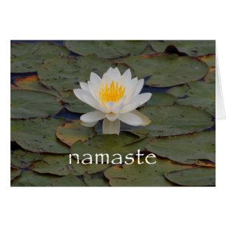 Cartes Fleur de Namaste Lotus