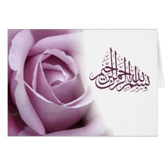 Cartes Fleur rouge de rose de rose de calligraphie