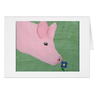 Cartes Fleur sentante de porc