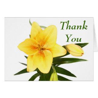 Cartes Fleur verte florale d'hémérocalle de jaune de