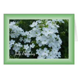 Cartes Fleurs assez blanches