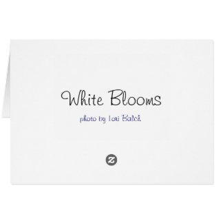 Cartes Fleurs blanches