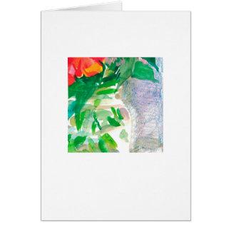 Cartes Fleurs d'aquarelle dans un pot