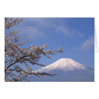 Cartes Fleurs de cerisier et mont Fuji 2