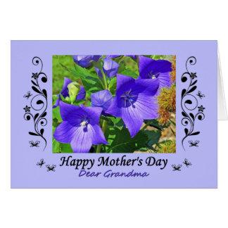 Cartes Fleurs et enjolivures de ballon de grand-maman du