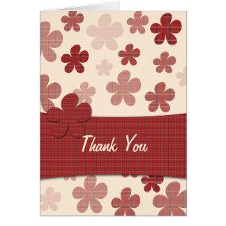 Cartes Fleurs et motif rouges de textile
