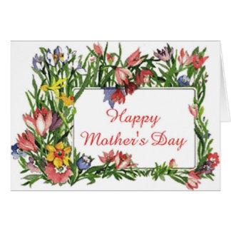 Cartes Fleurs heureuses du jour de mère