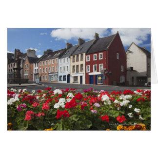 Cartes Fleurs le long d'une rue dans une zone