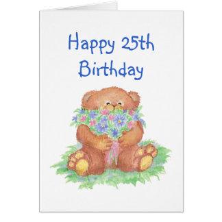 Cartes Fleurs pour le 25ème anniversaire, ours de