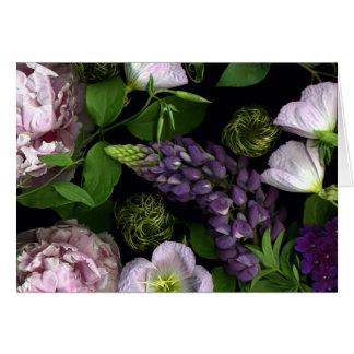 Cartes Fleurs pourpres d'un jour de mai