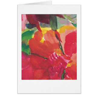Cartes Fleurs, rouge, jaune, rose