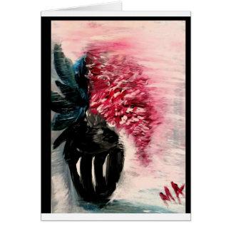 Cartes Fleurs rouges écartant le parfum doux