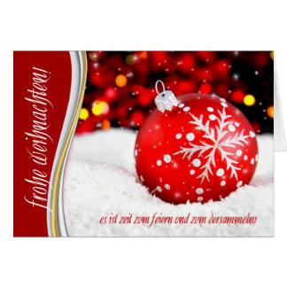 Cartes Flocon de neige allemand de rouge de Weihnachten