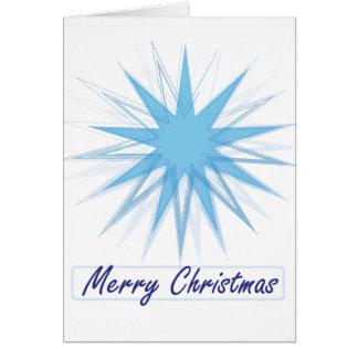 Cartes Flocon de neige géométrique avec le Joyeux Noël