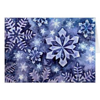 Cartes Flocons de neige bleus