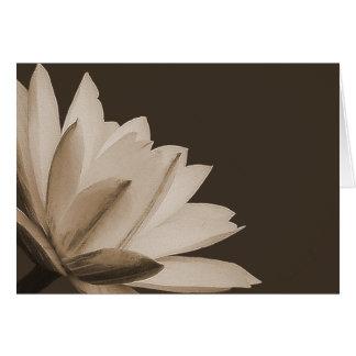 Cartes Floral chic de photo de fleur de nénuphar