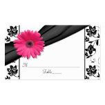 Cartes florales blanches d'endroit de mariage de n modèle de carte de visite