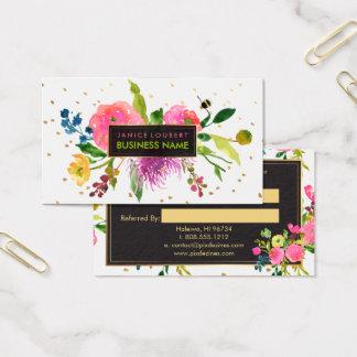Cartes florales d'aquarelle/référence de
