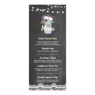Cartes florales de dentelle de craie de pot de