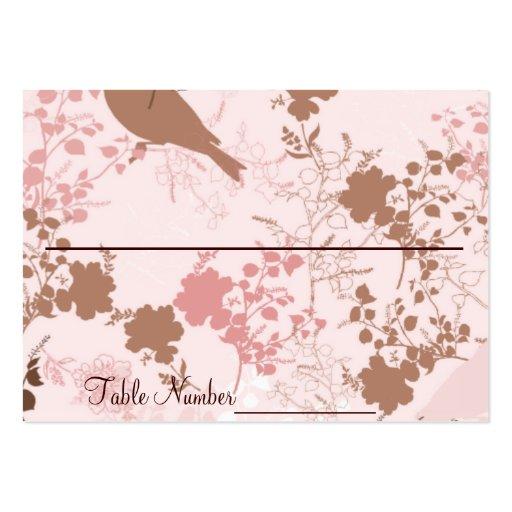 Cartes florales de nombre de Tableau de mariage de Modèle De Carte De Visite