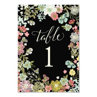 Cartes florales de nombre de Tableau de mariage de Carton D'invitation 8,89 Cm X 12,70 Cm