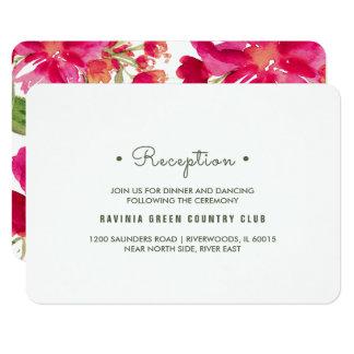 Cartes florales de réception de mariage de carton d'invitation 8,89 cm x 12,70 cm