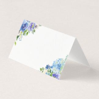 Cartes florales d'endroit d'hortensias bleus