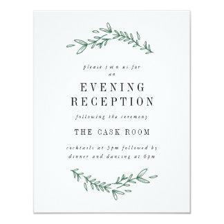 Cartes florales élégantes rustiques de réception carton d'invitation 10,79 cm x 13,97 cm