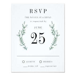 Cartes florales élégantes rustiques du monogramme carton d'invitation 10,79 cm x 13,97 cm