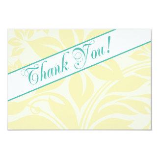 Cartes florales et turquoises de citron de Merci Invitation Personnalisable