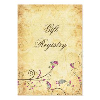 cartes florales fuchsia vintages rustiques de list carte de visite grand format
