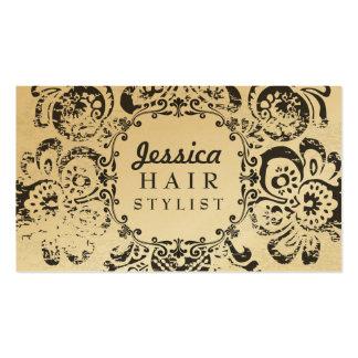 Cartes florales grunges de rendez-vous de coiffeur modèle de carte de visite