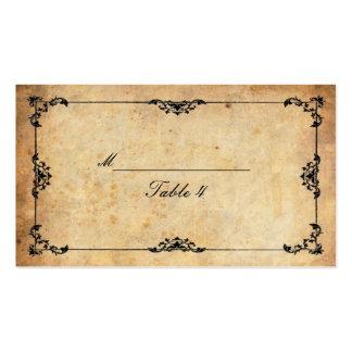 Cartes florales noires vintages d'endroit de carte de visite standard