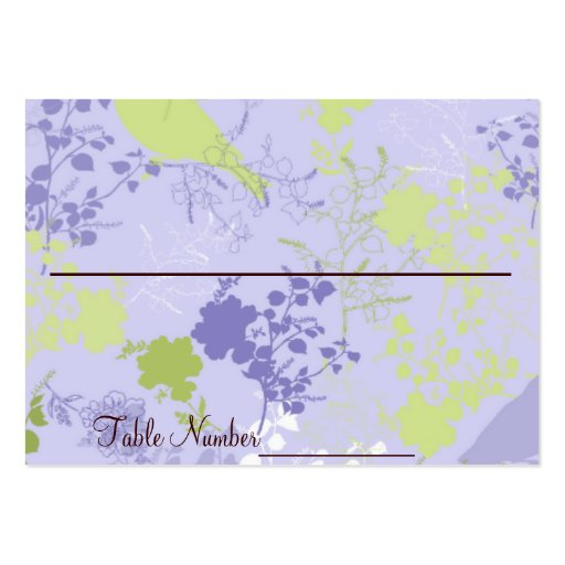 Cartes florales pourpres et vertes de nombre de Ta Cartes De Visite Personnelles