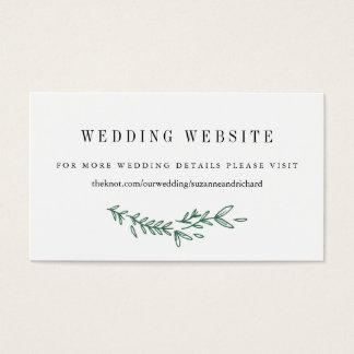Cartes florales rustiques de site Web de mariage