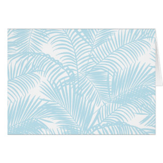 Cartes Flore tropicale simple moderne bleue en pastel de