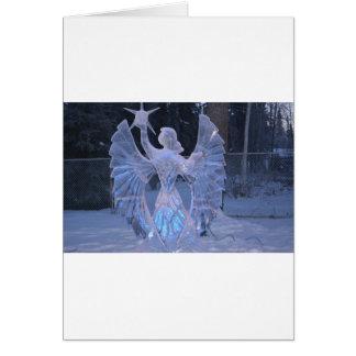 Cartes Foi de christianisme d'ange de sculpture en hiver