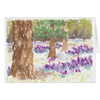 Cartes Forêt de fleur sauvage