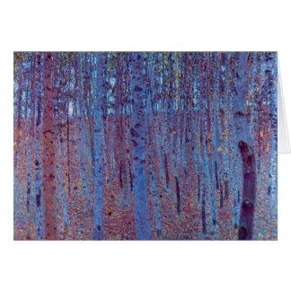 Cartes Forêt de hêtre par Gustav Klimt, art vintage