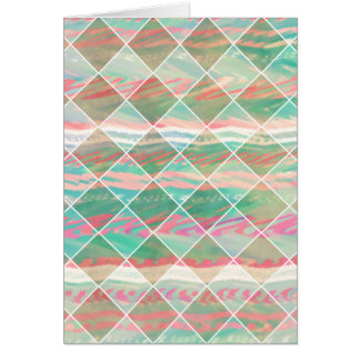 Cartes Formes géométriques en pastel modernes Girly de