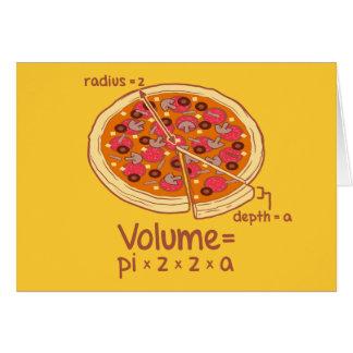 Cartes Formule mathématique = Pi*z*z*a de volume de pizza