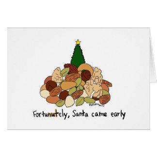 Cartes FortuNUTely Père Noël est venu tôt…