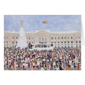 Cartes Foules autour du palais 1995