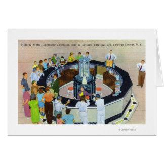 Cartes Foules se réunissant aux fontaines chez Hall de