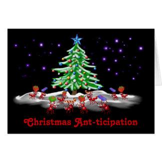 Cartes Fourmi-ticipation de Noël