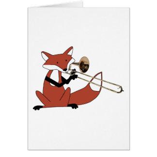 Cartes Fox jouant le trombone