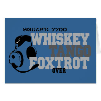 Cartes Fox-trot de tango de whiskey - humour d'aviation